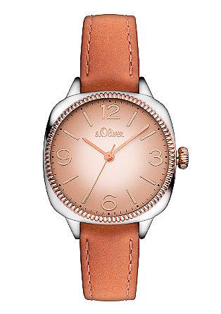 Uhr mit Lünette in IP Rosé