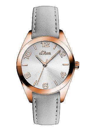 IP Rosé-Uhr mit Lederband