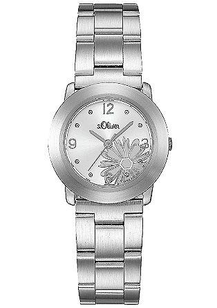 Armbanduhr mit dekorativer Blüte