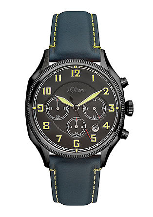 Herren-Chronograph mit Lederband