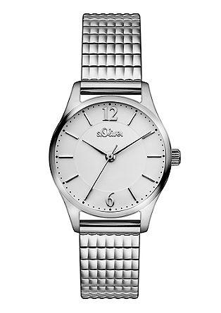 Sportiv-elegante Armbanduhr aus Edelstahl