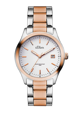 Klassische Armbanduhr aus Edelstahl