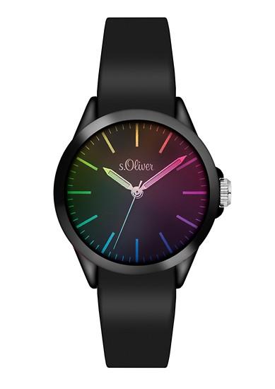 Horloge met bandje van silicone