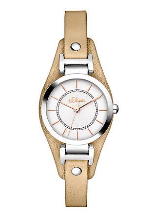 Edelstahl-Uhr mit Lederband