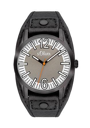 Armbanduhr mit Fake-Lederband