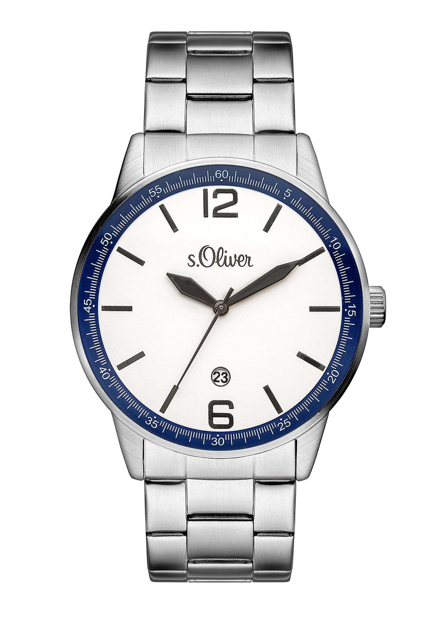 Armbanduhr   Uhren > Sonstige Armbanduhren   Weiß   Edelstahl -  glas   s.Oliver