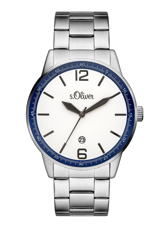 Armbanduhr   Uhren   Grau/schwarz   Edelstahl -  glas   s.Oliver