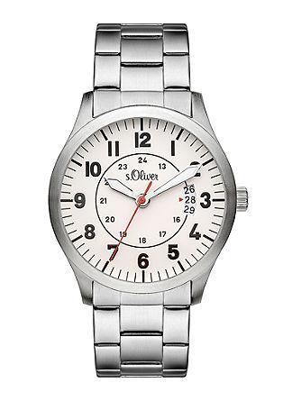 Edelstahl-Uhr in Flieger-Optik