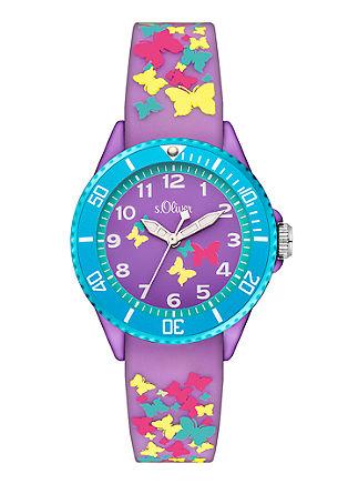 Girls-Uhr im Schmetterling-Design