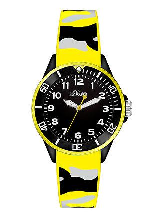 Neon-Uhr im Camouflage-Look