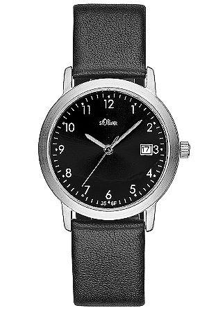 Klassische Armbanduhr mit Lederband