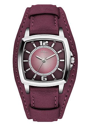 Armbanduhr mit markantem Lederband