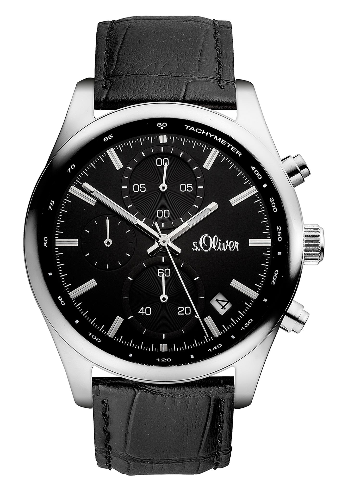 Chronograph | Uhren | Grau/schwarz | s.Oliver