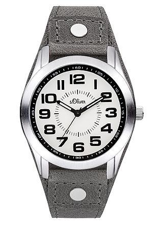 Uhr mit markantem Lederband