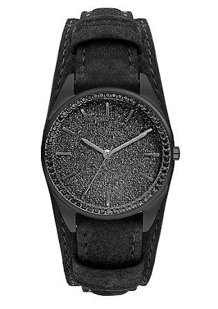 Horloge met glinsterende wijzerplaat
