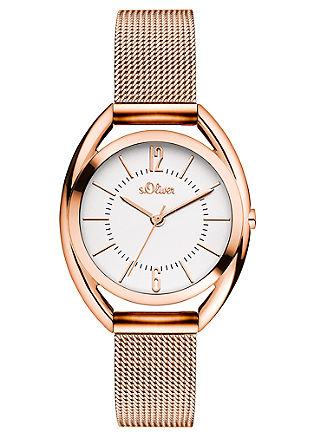 Horloge met Milanese bandje van edelstaal