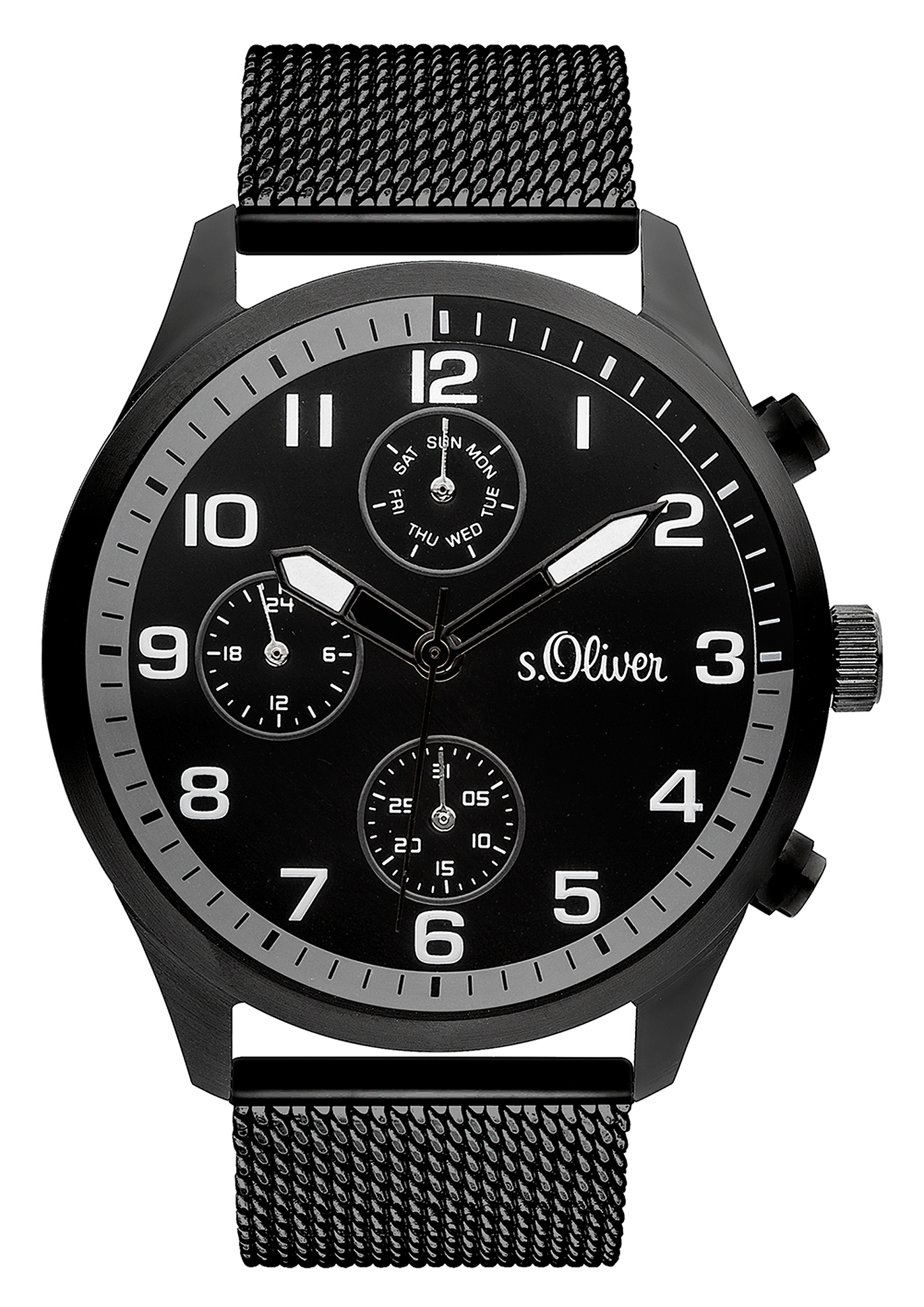 Armbanduhr | Uhren > Sonstige Armbanduhren | Grau/schwarz | Edelstahl| mineralglas | s.Oliver