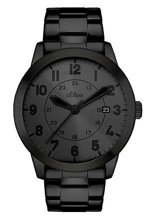 Herenhorloge van edelstaal IP black