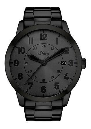 Uhr aus mattiertem Edelstahl