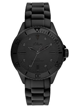 Armbanduhr mit Sillikonband