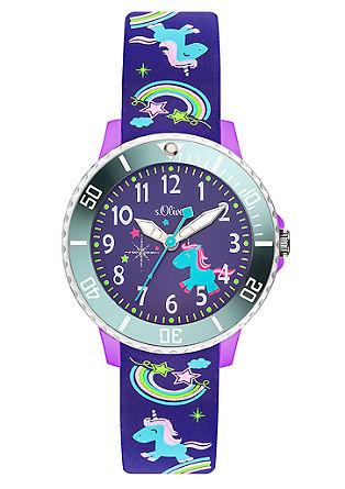 Einhorn-Uhr mit Silikonband