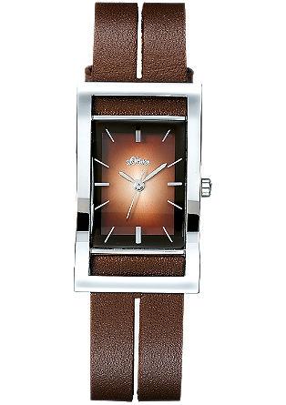 Armbanduhr mit Edelstahl und Leder