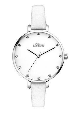 Horloge met glazen steentjes