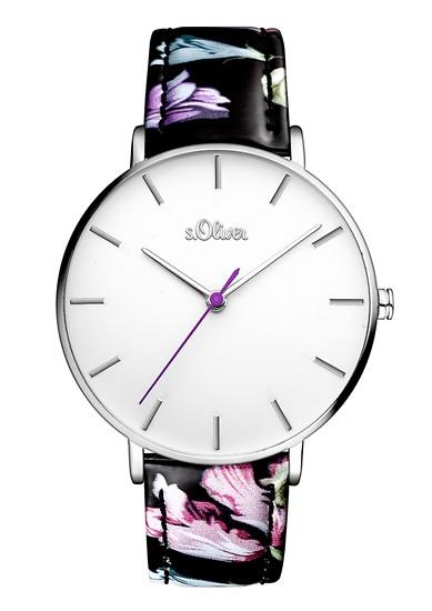 Horloge met een floraal design