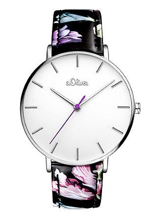 Uhr im floralen Design
