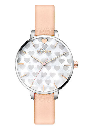 Horloge met hartdetails