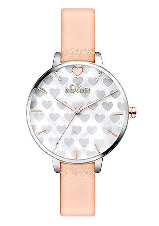 Uhr mit Herz-Details
