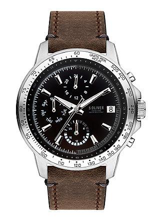 Multifunctioneel horloge met leren bandje