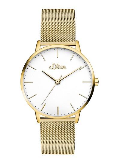 Edelstahl-Uhr mit Mesharmband