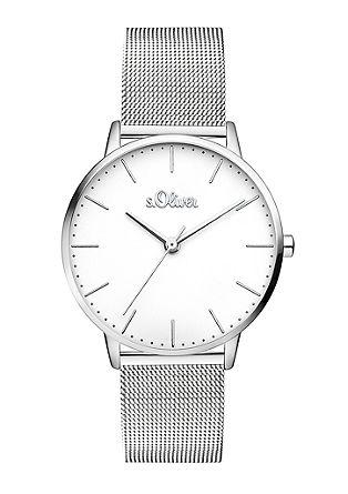 Edelstalen horloge met mesh bandje