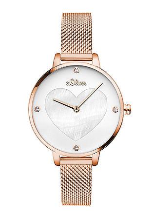 Uhr mit Edelstahl-Mesharmband