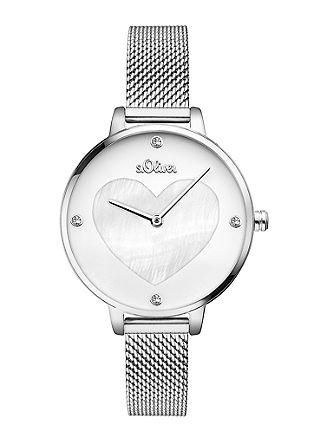 Horloge met edelstalen mesh bandje
