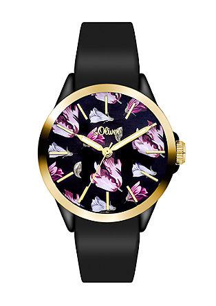 Tulpen-Uhr mit Silikonband