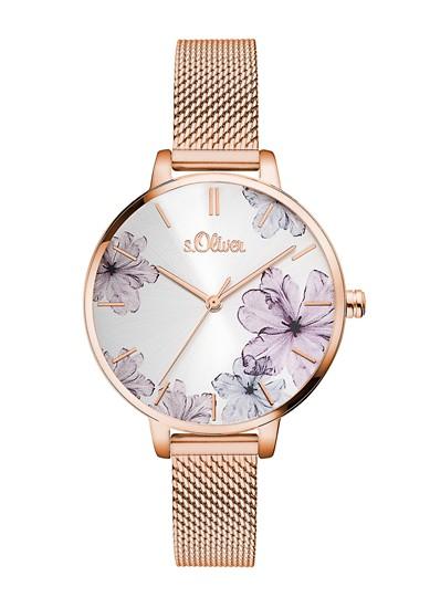 Edelstalen horloge met Milanees bandje