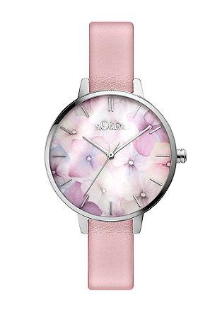 Uhr im floralen Aquarell-Look