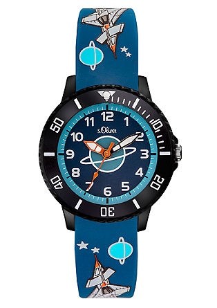 Siliconen horloge met ruimtemotieven