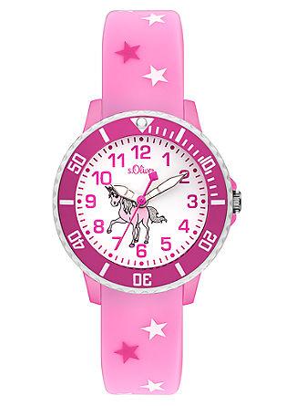 Silikonband-Uhr mit Einhorn-Motiv