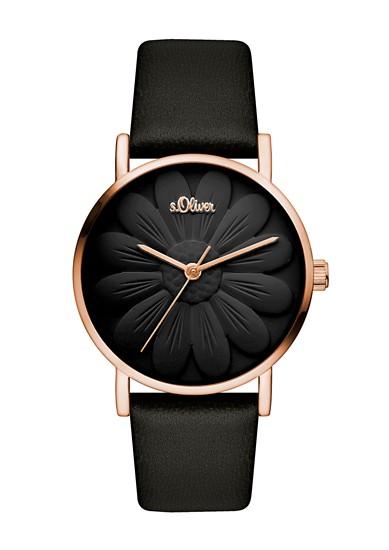 Horloge in bloemendesign