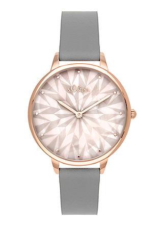 Armbanduhr mit Eisblumen-Motiv