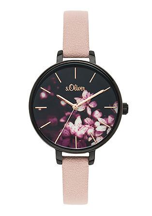Armbanduhr im Blüten-Design