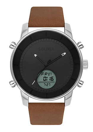 Uhr mit Leder-Armband