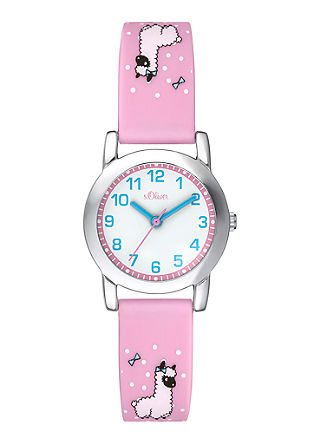 Horloge met silicone bandje met print
