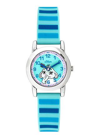 Uhr mit Print-Silikonband
