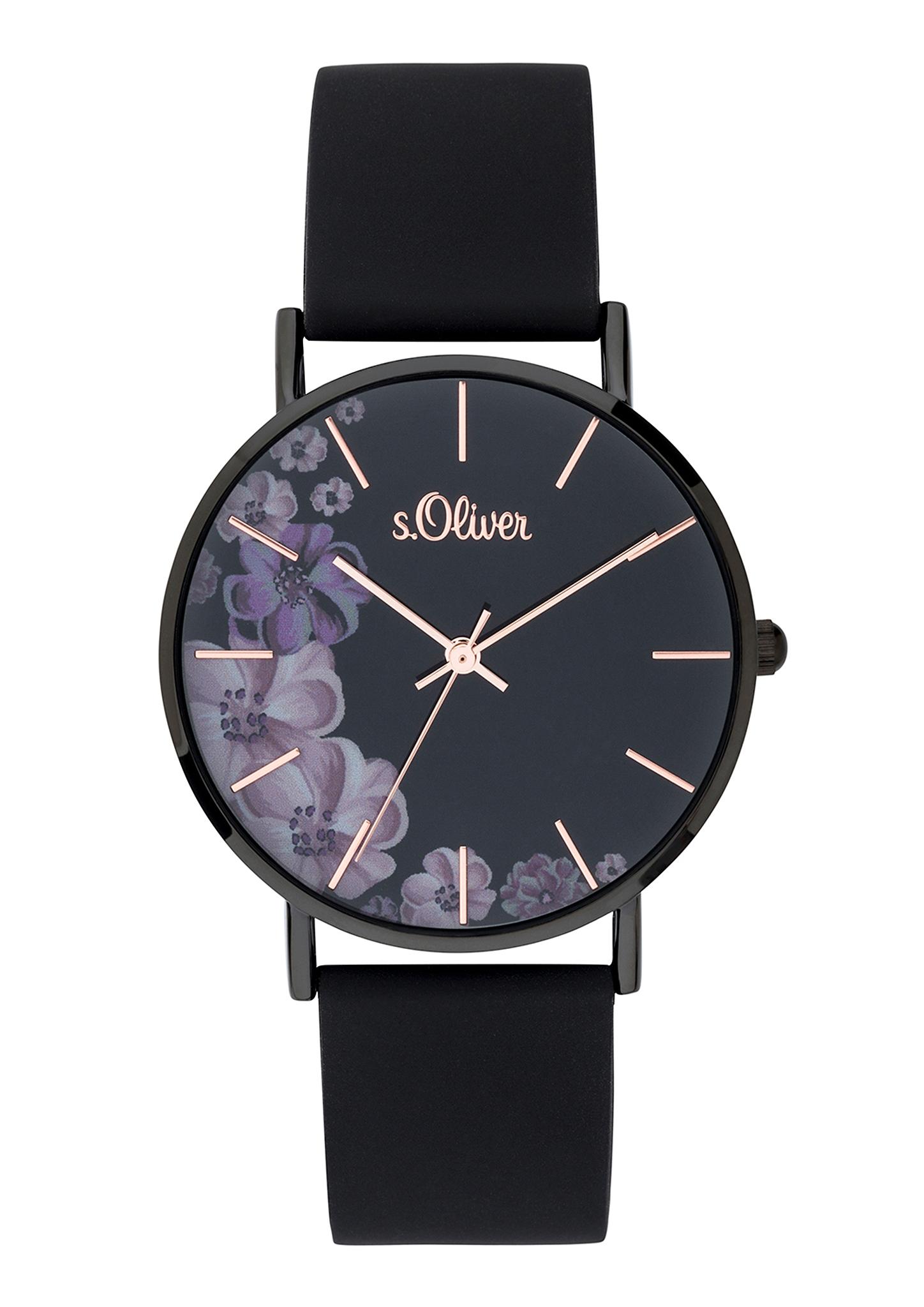 Armbanduhr | Uhren > Sonstige Armbanduhren | Grau/schwarz | Metall| mineralglas| silikon| edelstahl | s.Oliver