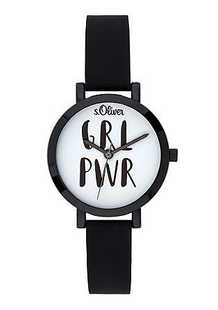 Armbanduhr mit Statement-Zifferblatt