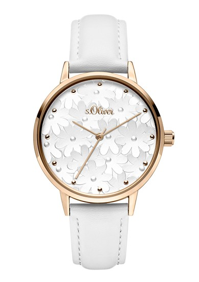 Armbanduhr mit Blumen-Motiv